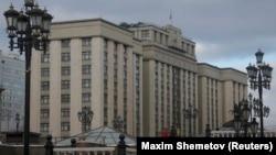 Здание Государственной думы России. Москва, 25 января 2017 года.