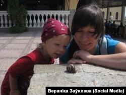 Cтваральніца ініцыятывы Радзіны - #янарадзілатут Вераніка Заўялава. Фота зь яе старонкі ў Фэйсбуку.