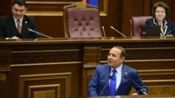 Armenia - Speaker Hovik Abrahamian addresses the National Assembly in Yerevan, 21Oct2013.