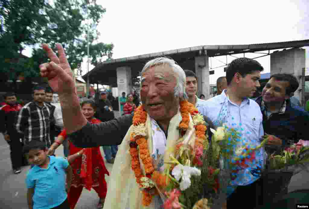 Japanese climber Yuichiro Miura, 80, became the oldest person to reach the summit of Everest on May 23, 2013. Miura had undergone four heart surgeries before making the ascent, most recently in January.