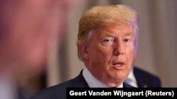 Президент США Дональд Трамп, Бельгия, 11 июля 2018 года