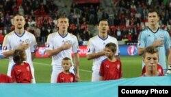 Қазақстан футболшылары. Чехия, 3 қыркүйек 2015 жыл.