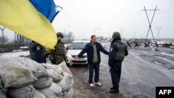 Український блокпост, Курахове, 21 січня 2015 року