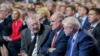 Жириновский, Зюганов и Миронов во время послания президента Федеральному собранию в феврале 2019 года