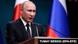 Владимир Путин, Ресей президенті. Анкара, 11 желтоқсан 2017 жыл.