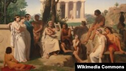 "Огюст Лелуар, ""Гомер"" (1841)"