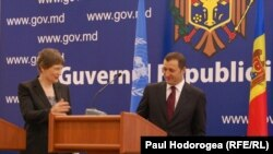 Premierul Vlad Filat și Helen Clark (PNUD)