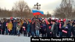Krasnoyarskda etiraz aksiyası