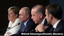 Liderët e Gjermanisë, Rusisë, Turqisë dhe Francës. Fotografi nga arkivi.