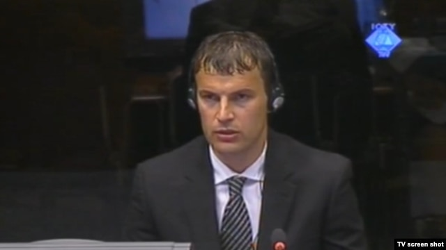 Elvedin Pašić na suđenju Ratku Mladiću, 9. srpanj 2012.