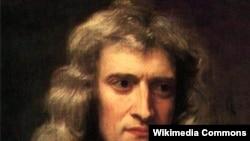 چهره اسحاق نيوتن در سن ۴۶ سالگی.