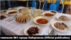 Фото столовой в хабаровской гимназии №3