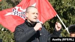 Сергей Удальцов в Уфе в президентскую кампанию-2018