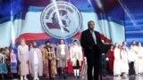 Подконтрольный Кремлю глава Крыма Сергей Аксенов на открытии фестиваля «Великое русское слово». Ялта, 5 июня 2017 года