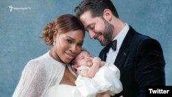 Ալեքսիս Օհանյանը տիկնոջ՝ Սերենա Վիլյամսի և դստեր հետ