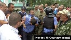 Під час затримання підозрюваних поліцейських