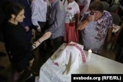 Капсулу з прахам прыозілі на Зьезд беларусаў сьвету ў Менску 16 ліпеня