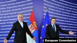 Tomislav Nikolić i Jose Manuel Barroso u Briselu, juni 2012.