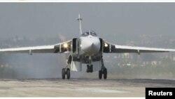 Ռուսական օդուժի ՍՈւ-24 օդանավը Սիրիայում, նոյեմբեր, 2015թ.