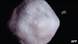 Космічний корабель Osiris-Rex та астероїд Бенну (концепт НАСА)