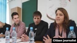 Mladi ambasadori mira na sastanku sa Mary Ann Hennesy u Sarajevu