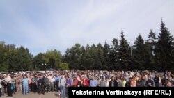 Акция учёных в Иркутске