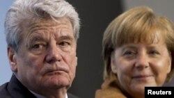 Лідери Німеччини: президент Ґаук, канцлер Меркель