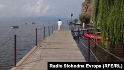 Мост на желбите во Охрид.