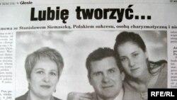 Станіслаў Сямашка, фота з газэты