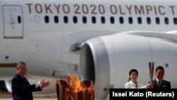 Огонь летних Олимпийских игр Токио-2020 доставлен из Греции в Японию. 20 марта 2020 года