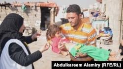 حملة تلقيح ضد مرض شلل الاطفال في البصرة