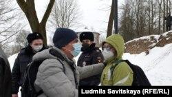 Лев Шлосберг на акции 23 января в Пскове