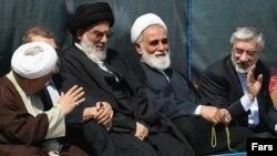 Mir Hossein Musavi is pictured far right.