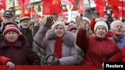 Прихильники Компартії на мітингу в Києві (архівне фото)