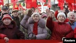 Прихильники Комуністичної партії в Києві, архівне фото