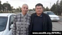 Солиджон Абдурахманов (слева) после освобождения из тюрьмы