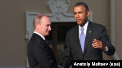 Обама (у) һәм Путин Петербурда G20 саммитында. 5 сентябрь 2013