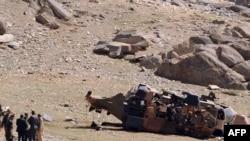 Вардак ш. яқинида ўтган йил бошида ерга қулаган НАТО вертолёти