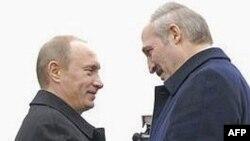 Уладзімер Пуцін і Аляксандар Лукашэнка