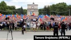 Protestul împotriva invalidării alegerii lui Andrei Năstase în calitate de primar de Chişinău, 1 iulie 2018
