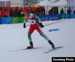 Вольга Назарава на алімпійскай трасе Турына.