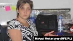 Сотрудница общественного объединения «Ассоциация женщин с инвалидностью «ШЫРАК» Татьяна Баклажанова. Алматы, 11 сентября 2013 года.