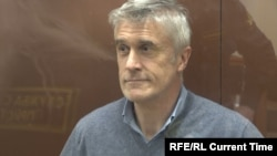 Michael Calvey appears in court in Moscow on February 15.