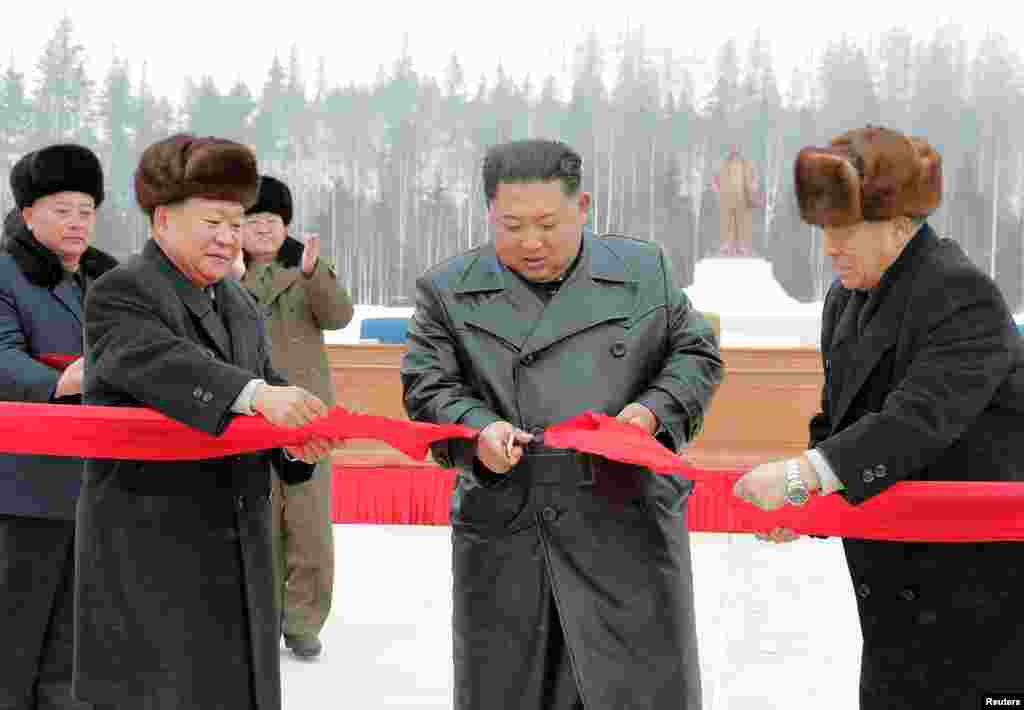 "The mountain town, near the border with China, was ""opened"" by Kim Jong Un on December 2. The opening ceremony marks the end of the second stage of construction, with final completion scheduled for October 2020."