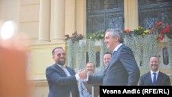 Predsednici privrednih komora Kosova i Srbije Berat Rukići (Rukiqi) i Marko Čadež