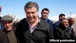 Armenia - Prime Minister Karen Karapetian campaigns in Syunik province, 11Mar2017.