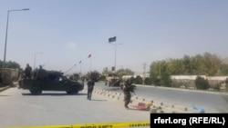 Afghan forces cordoned off the area after the attack.