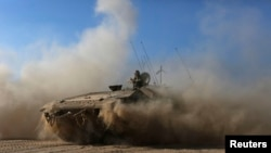 Ізраїльські військові на кордоні зі Смугою Гази, 31 липня 2014