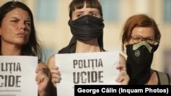 Protest în fața MAI. Polițiștii din cazul Caracal sunt acuzați că nu și-au făcut treaba