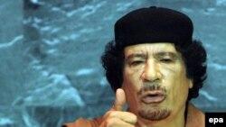BMT Baş Assambleyasının məclisində çıxış edən Liviya diktatoru Müəmmar Qəddafi ittiham dili ilə danışırdı
